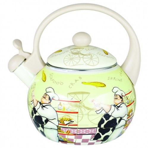 Чайник Zeidan Z-4154 Эмаль обьем 2,5л со свистком