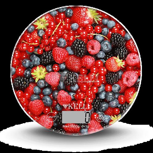 Весы Kelli KL-1537 5,0кг кухонные электронные стекло круг