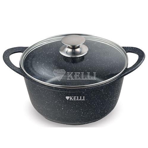 Кастрюля Kelli KL-4079-20 с мраморным покрытием 3,5л