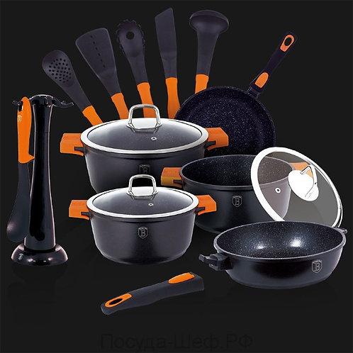 ЧД-1114 15 шт набор посуды, Гранит Алмазные линии