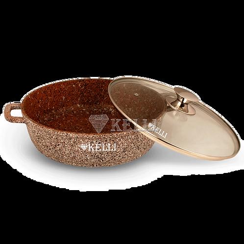 Сковорода-сотейник Kelli KL-4019 с гранитным покрытием 26, 28, 32см
