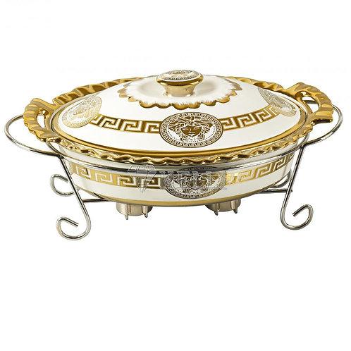 Мармит Kelli KL-180 2,5л керамика золото на подставке