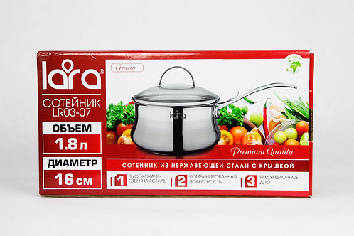 Ковш LARA LR03-07 сотейник нерж обьем 1,8л