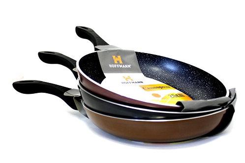 Сковорода hoffmann мраморным покрытием НМ 7520   20см  24см  26см