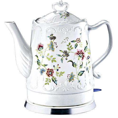 Чайник DELTA LUX DL-1239 фарфор Цветы 1500Вт обьем 1,5л
