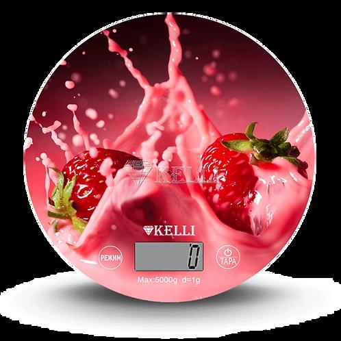 Весы Kelli KL-1541 5,0кг кухонные электронные стекло круг
