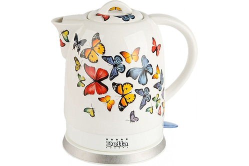Чайник DELTA DL-1233A керамика 1500Вт 1,7л Бабочки