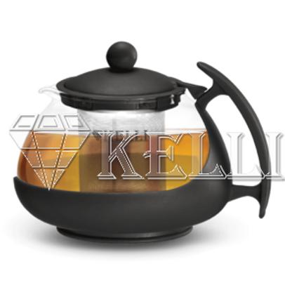 Заварочный чайник Kelli KL-3082 жаропр стекло 0,75л.