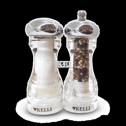 Набор Kelli KL-11105 Мельница для специй+солонка 13см