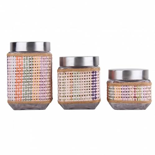 Набор банок для сыпучих Zeidan Z-1189 3пр стекло 0,8мл 1,3мл 1,6мл