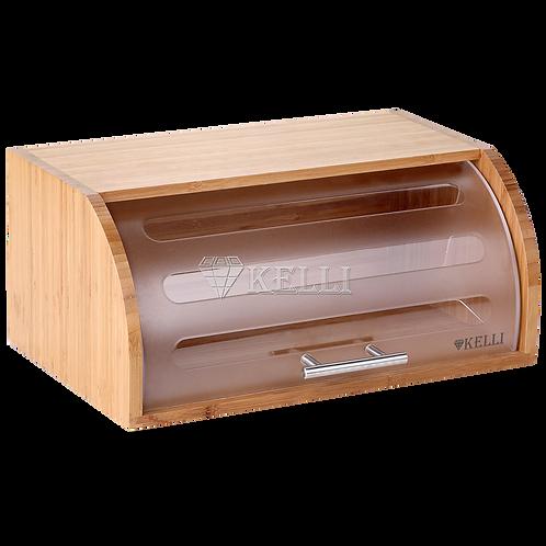 Хлебница Kelli KL-2118 бамбук пластик 40,5*27*17см