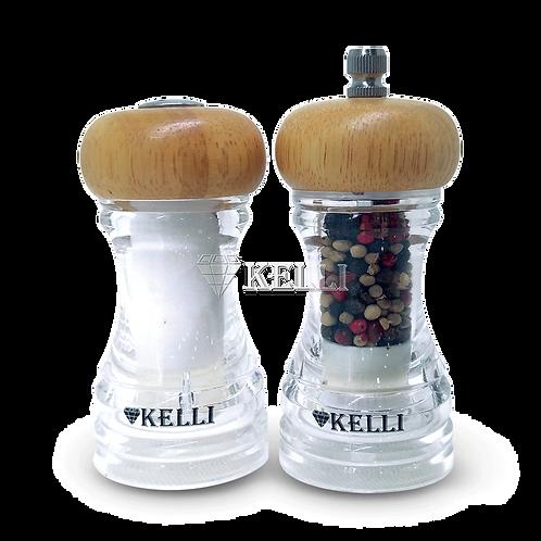 Набор Kelli KL-11107 Мельница для специй+солонка 10см