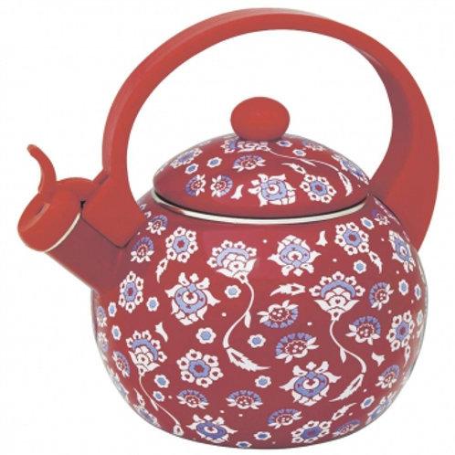 Чайник Zeidan Z-4153 Эмаль Красный обьем 2,5л со свистком