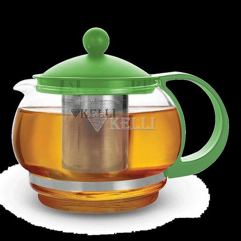 Заварочный чайник Kelli KL-3084 жаропр стекло 0,9л.