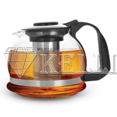 Заварочный чайник Kelli KL-3089 жаропр стекло 1,6л.