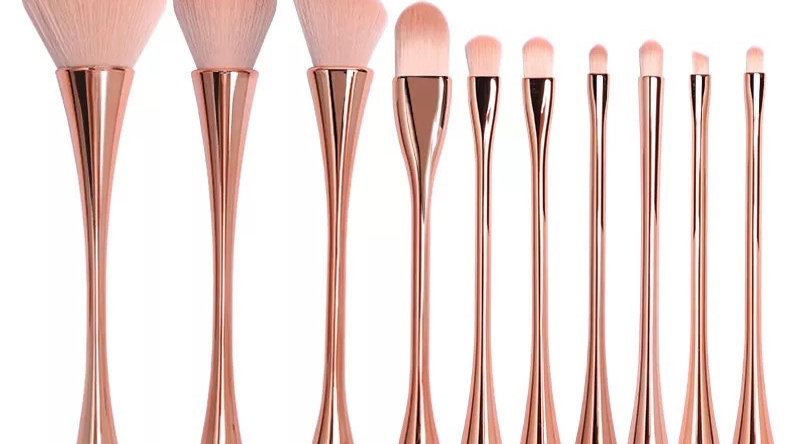 10 Piece Glam Super Soft Makeup Brush Set