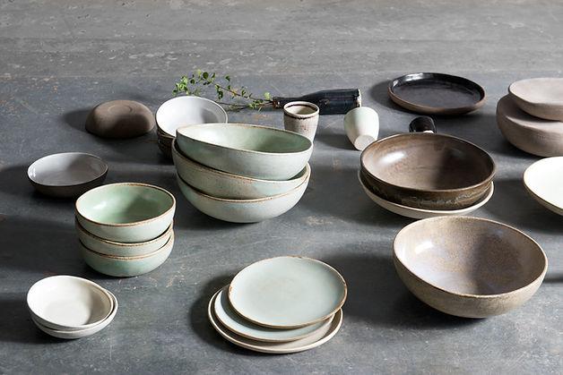 Ceramics bowls and plates