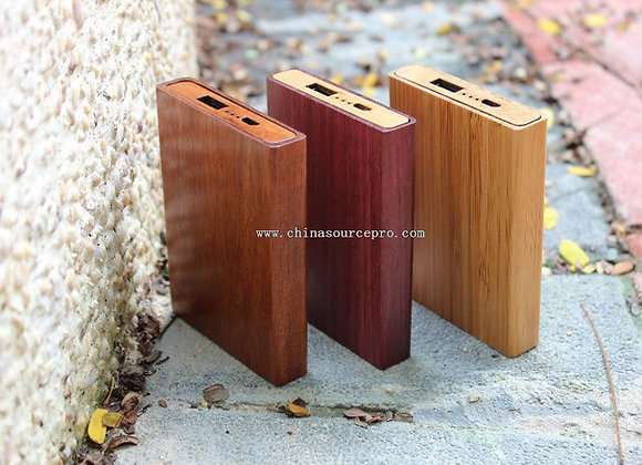 Wooden Power Bank (6000 mah)