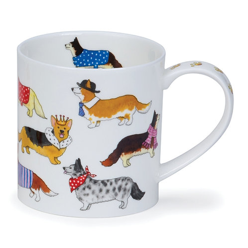Orkney Dashing Dogs Corgi - Dunoon fine English bone china