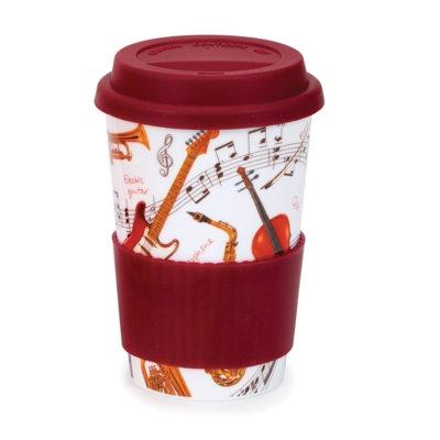 Instrumental Travel Mug with Lid & Sleeve- Dunoon fine English bone china