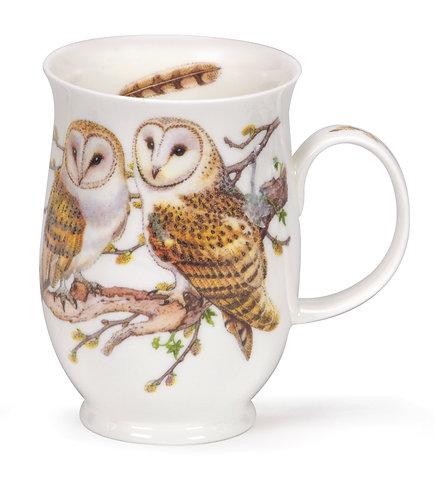 Suffolk Owls - Barn - Coffee mug and tea cup- Dunoon fine English bone china