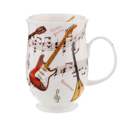 Suffolk Instrumental Guitar Coffee and Tea Mug- Dunoon fine English bone china