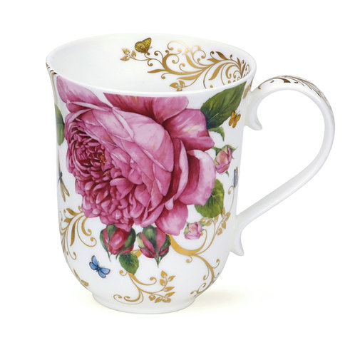 Braemar Vintage Rose with Gold - Dunoon fine English bone china
