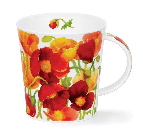 Lomond Kelmscott - Red - Dunoon fine English bone china