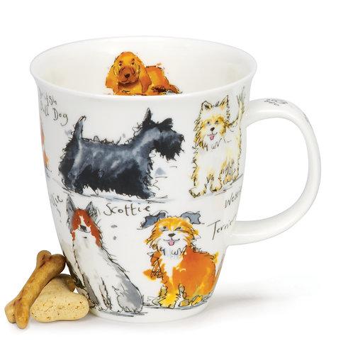 Nevis Messy Dogs Coffee and Tea Mug- Dunoon fine English bone china