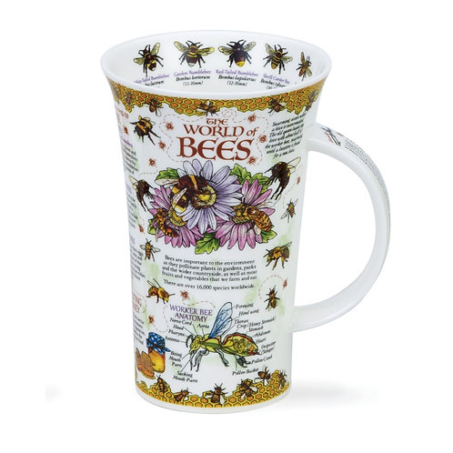 Glencoe World of Bees Coffee and Tea Mug- Dunoon fine English bone china