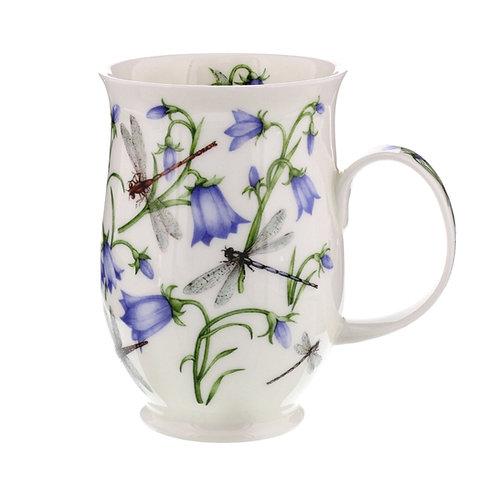 Suffolk Dovedale Harebelles coffee mug and tea cup- Dunoon fine English bone china