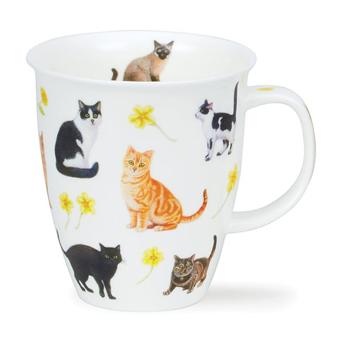 Nevis Flower Cats - Yellow - Dunoon fine English bone china