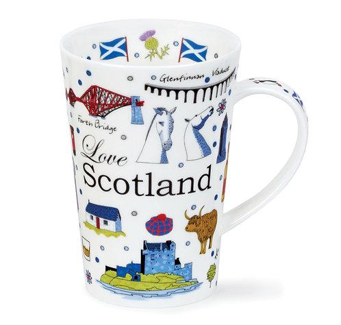 Shetland Love Scotland Coffee and Tea Mug- Dunoon fine English bone china