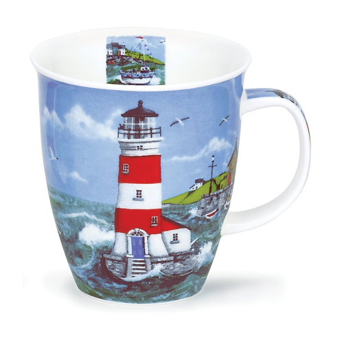 Nevis Lighthouse - Blue Door - Dunoon fine English bone china