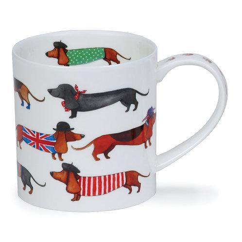 Orkney Dashing Dogs - Sausage - Dunoon fine English bone china