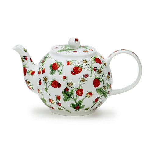 Dovedale Strawberry Teapot - Dunoon fine English bone china