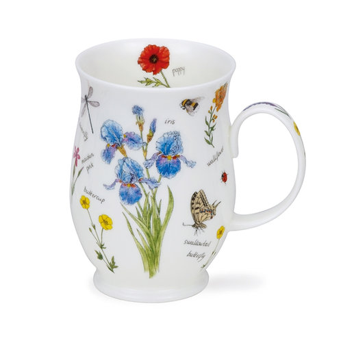 Suffolk Nature Notebook - Iris- Dunoon fine English bone china