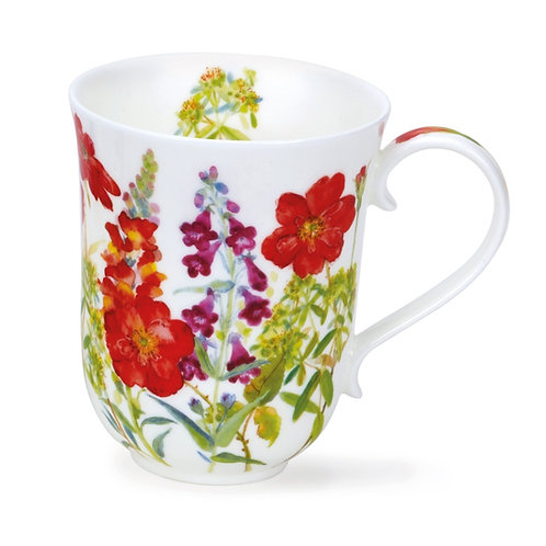 Braemar Cottage Flowers – Red - Dunoon fine English bone china