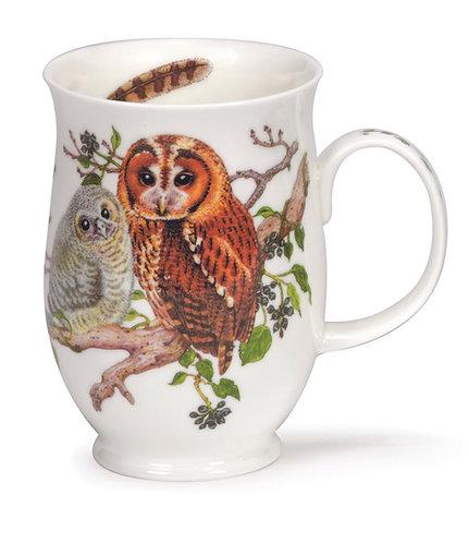 Suffolk Owls - Tawny - Coffee mug and tea cup- Dunoon fine English bone china