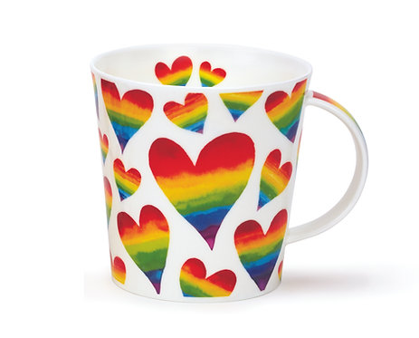 Cairngorm Rainbow Hearts- Dunoon fine English bone china
