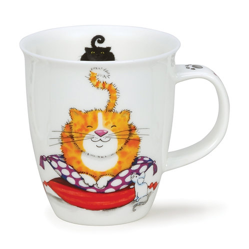 Nevis Comfy Cats - Ginger Coffee and Tea Mug- Dunoon fine English bone china