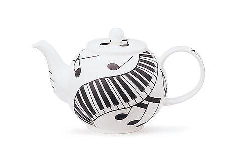 Ebony and Ivory Teapot