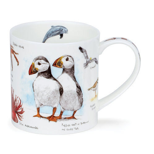 Orkney Seaside Notebook - Puffin offee and Tea Mug- Dunoon fine English bone china