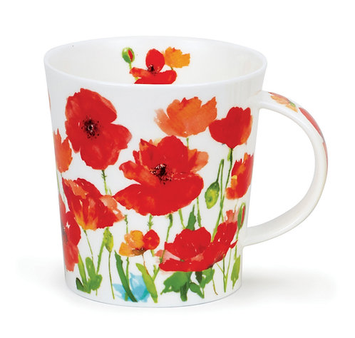 Lomond Beau Jardin - Red - Dunoon fine English bone china
