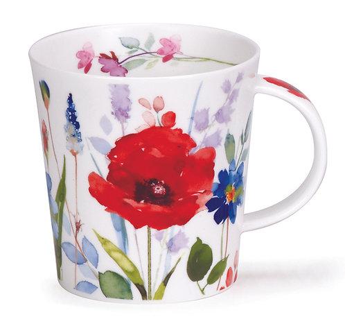 Lomond Wild Garden Poppy - Dunoon fine English bone china
