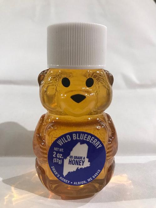 2 oz Wild Maine Blueberry Honey Bear