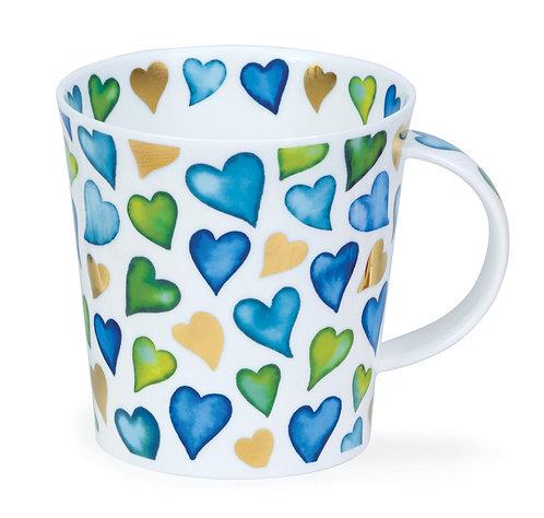 Cairngorm Lovehearts Blue- Dunoon fine English bone china