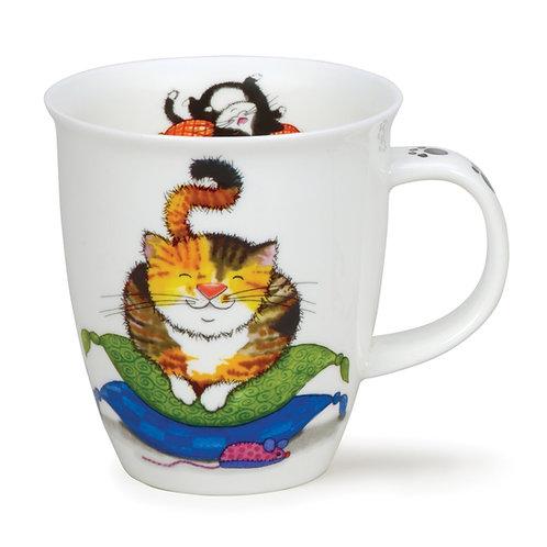 Nevis Comfy Cats - Tortoiseshell Coffee and Tea Mug- Dunoon fine English bone china