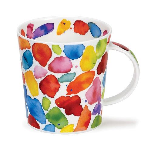 Lomond Blobs! Red Coffee and Tea Mug- Dunoon fine English bone china