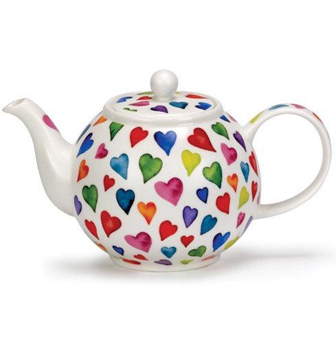 Warm Hearts Teapot- Dunoon fine English bone china
